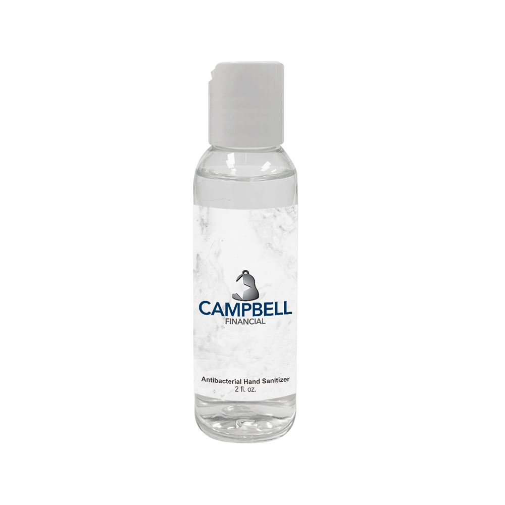 American Made 2 Oz. Gel Hand Sanitizer - Full Color Personalization Available