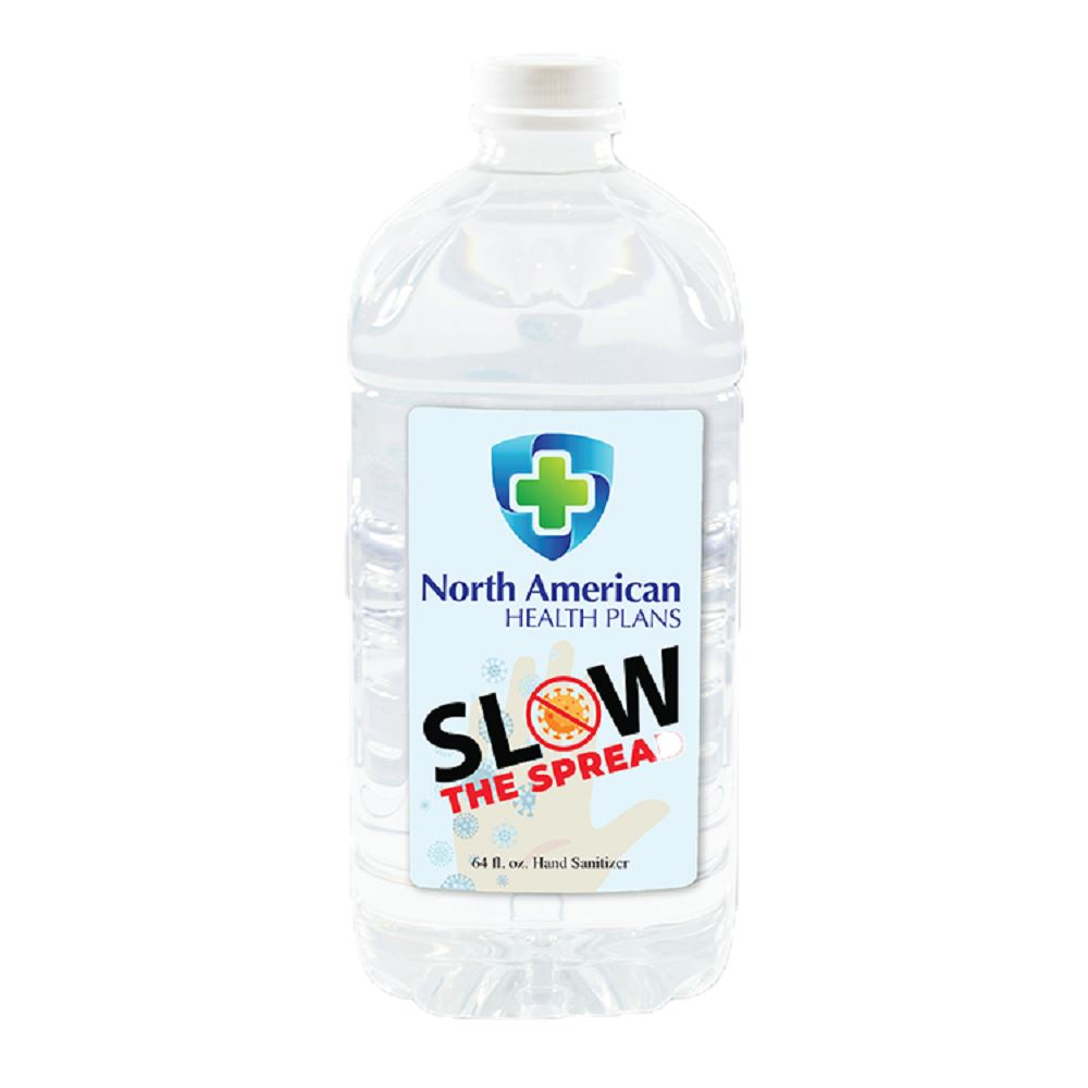 64 oz. Liquid Hand Sanitizer - Full Color Personalization Available