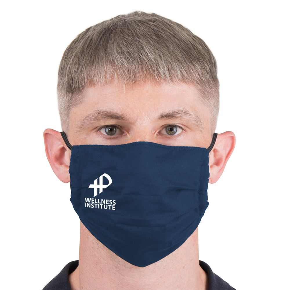 2-Ply 96% Polyester / 4% Spandex Reusable Pleated Face Mask - Personalization Available