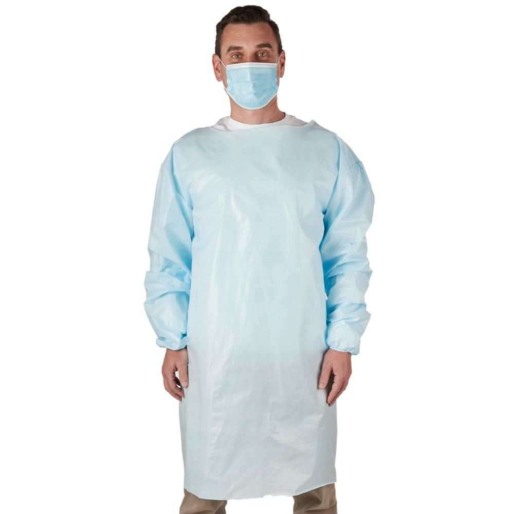 American Made Disposable Level 1 & 2 Blue PPE Isolation Gown