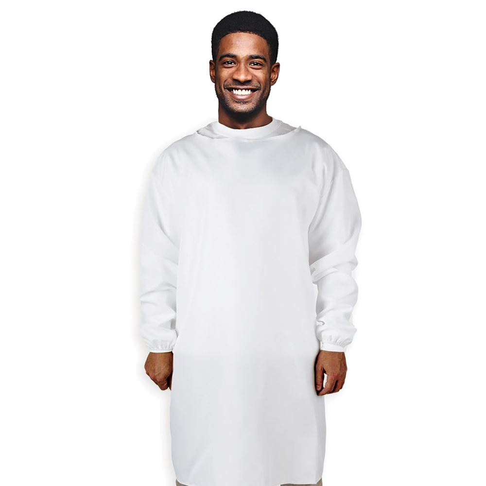 Reusable Level 1 & 2 White PPE Isolation Gown