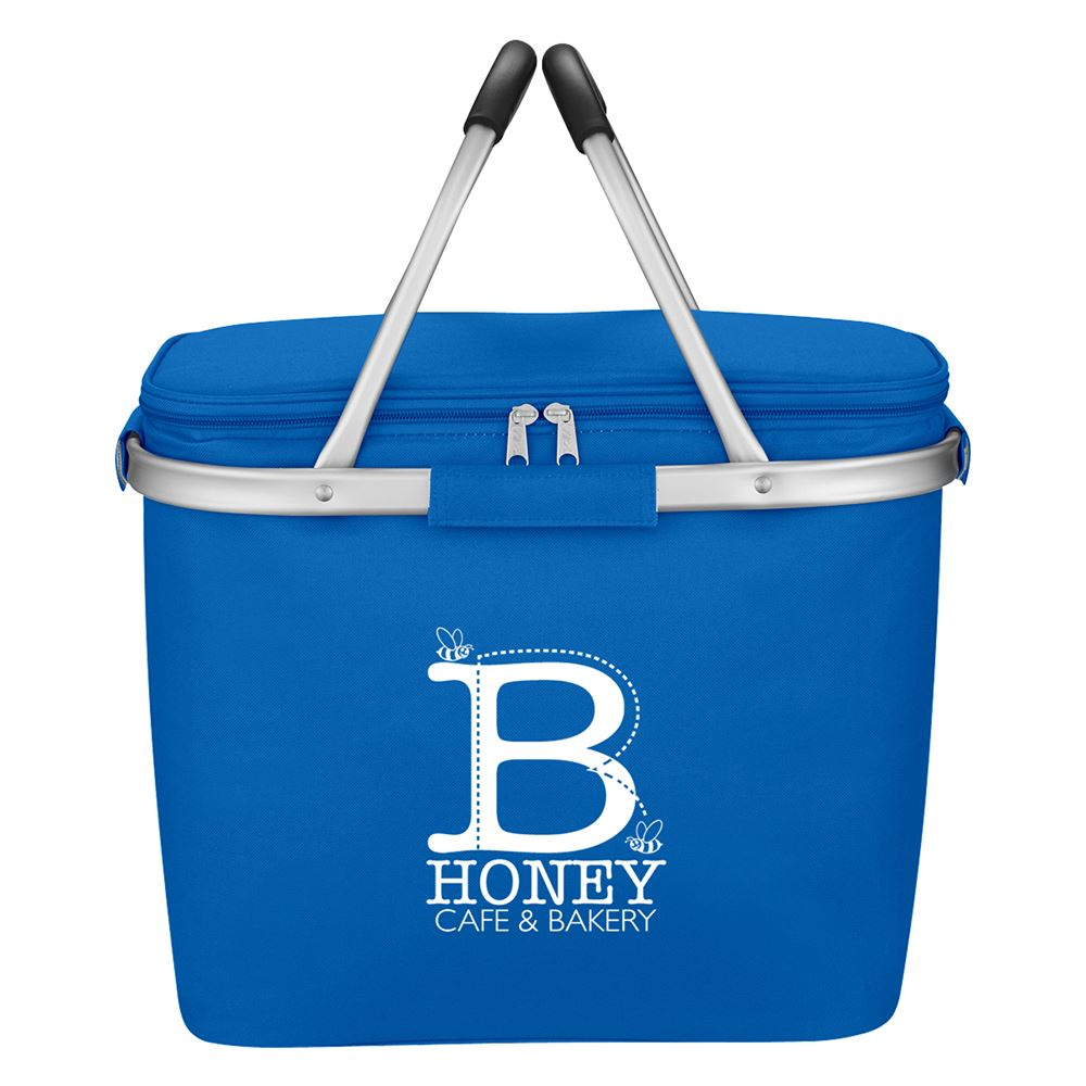 Picnic Fun Collapsible Cooler Basket - Personalization Available