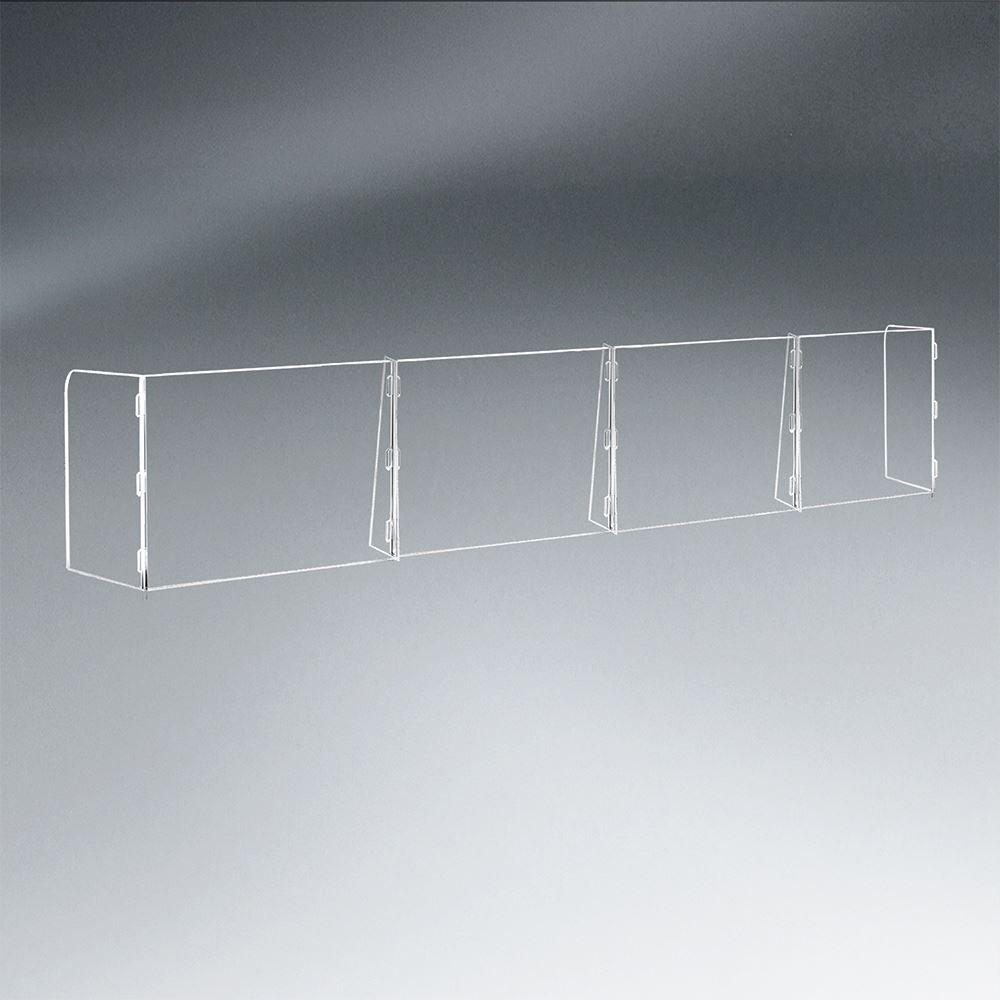 4 Panel Interlocking Counter Barrier Partition - 1/4