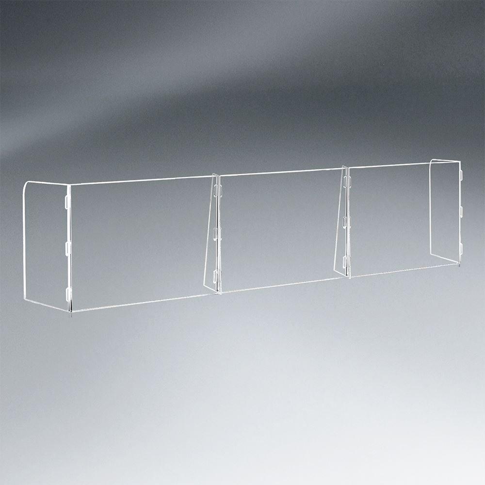 3 Panel Interlocking Counter Barrier Partition - 1/4
