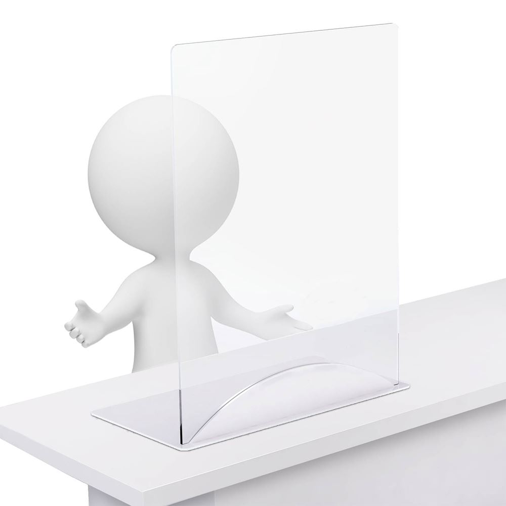 Clear Acrylic Tabletop Sneeze Guard - 1/4