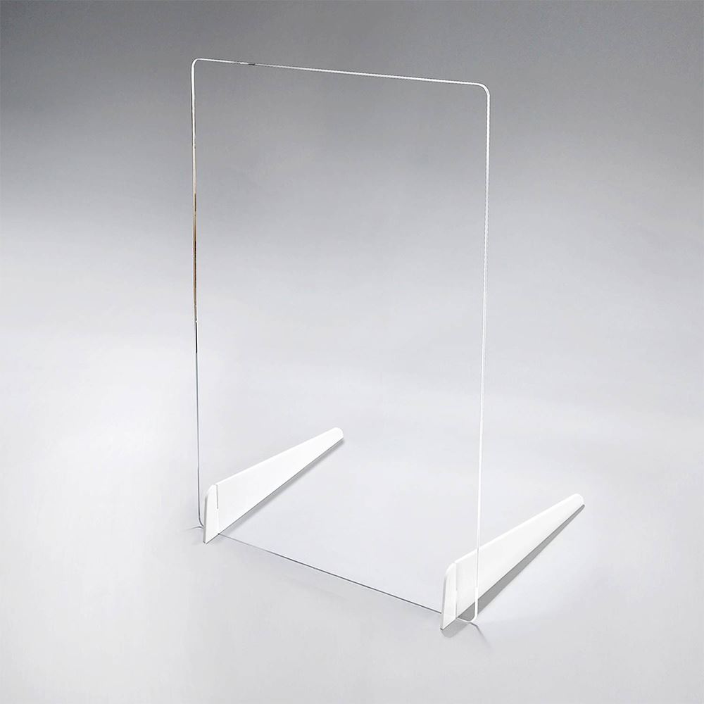 Clear Acrylic Distancing Barrier With Double Legs - 1/4