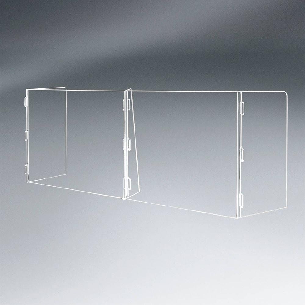 2 Panel Interlocking Counter Barrier Partition - 1/4