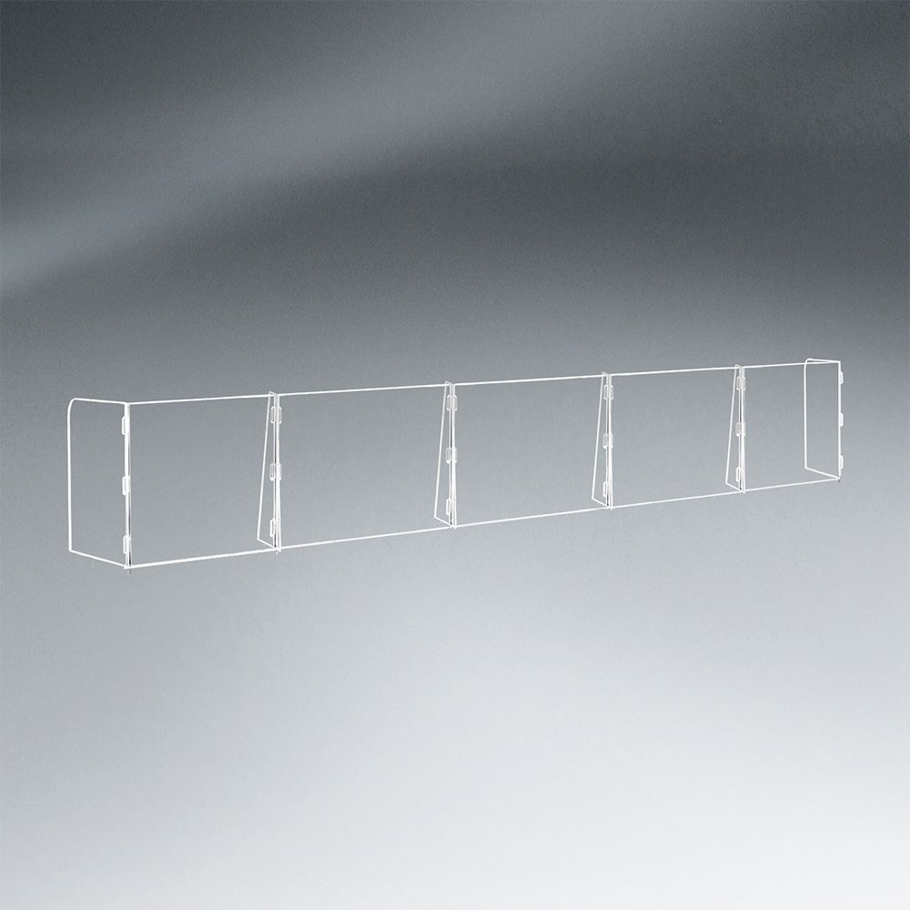5 Panel Interlocking Counter Partition Safety Barrier with No Pass-Through - 1/4