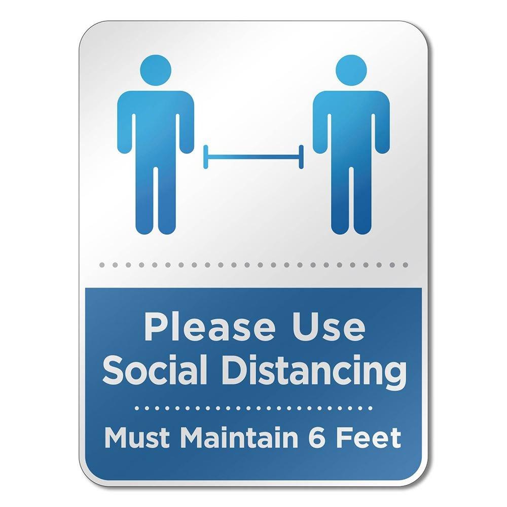 Social Distancing Reminder Sign