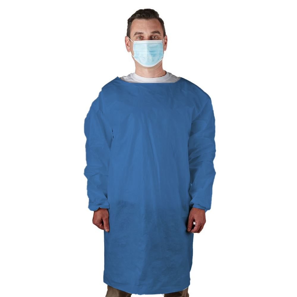 Disposable Level 1 & 2 Medical Blue PPE Isolation Gown