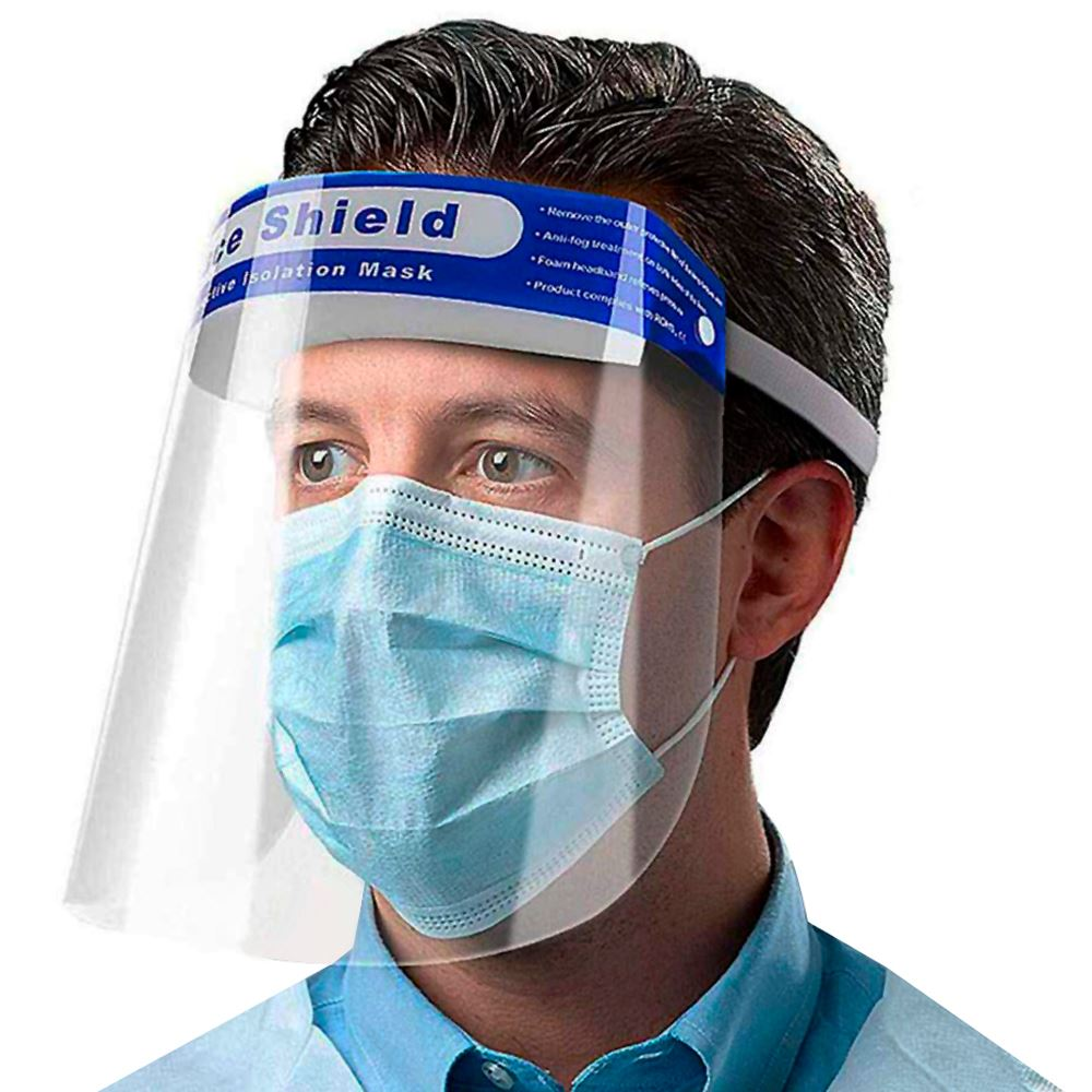 Reusable Transparent Face Shield with Elastic Band