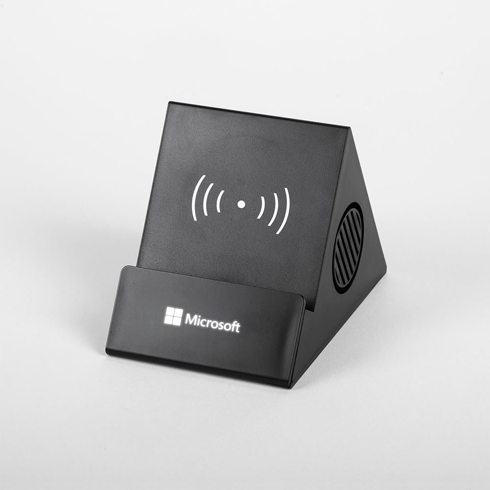 4-in-1 Phone Stand Bluetooth and Wireless Charger - Personalization Available