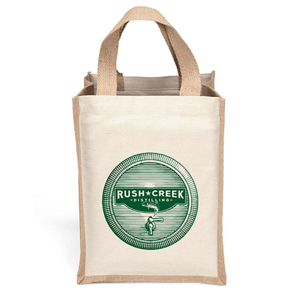 Small Cotton and Jute Tote - Personalization Available