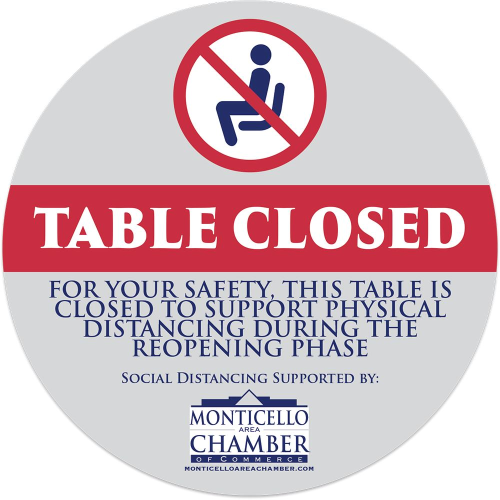 Custom Design Table Sticker - Personalization Available