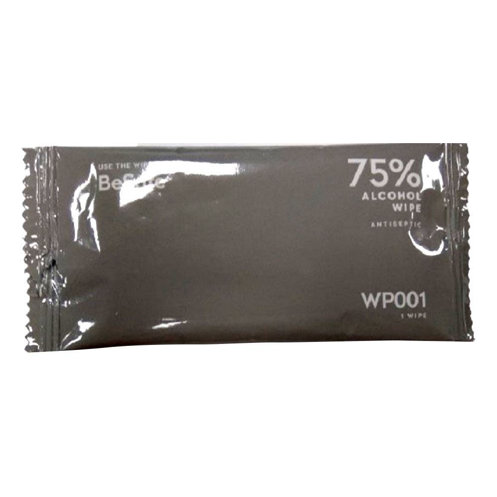 Individual Sanitizer Wipe in Sealed Package - 75% Alcohol