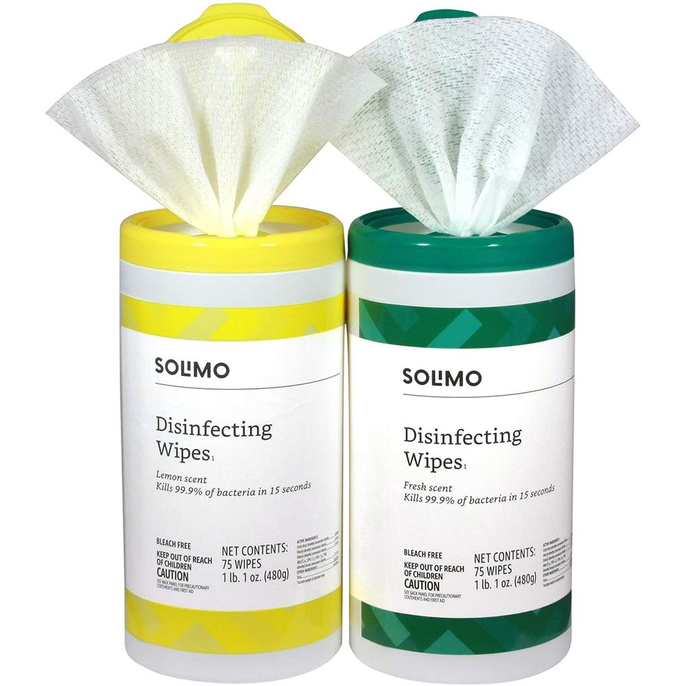 Solimo® Disinfecting Wipes in Canister - 75 Count - EPA REGISTERED