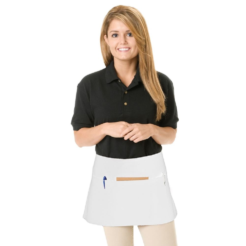 3 Pocket Waist Apron In White/Natural