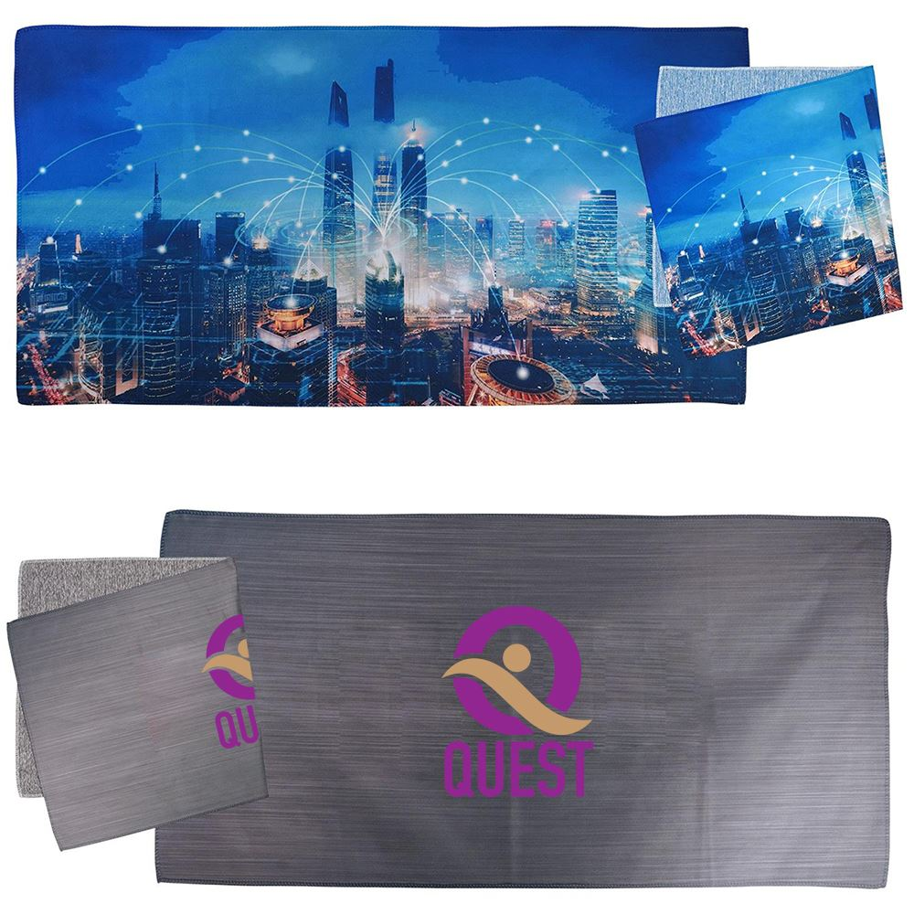 24 X 12 Heather Microfiber Towel-Personalization Available