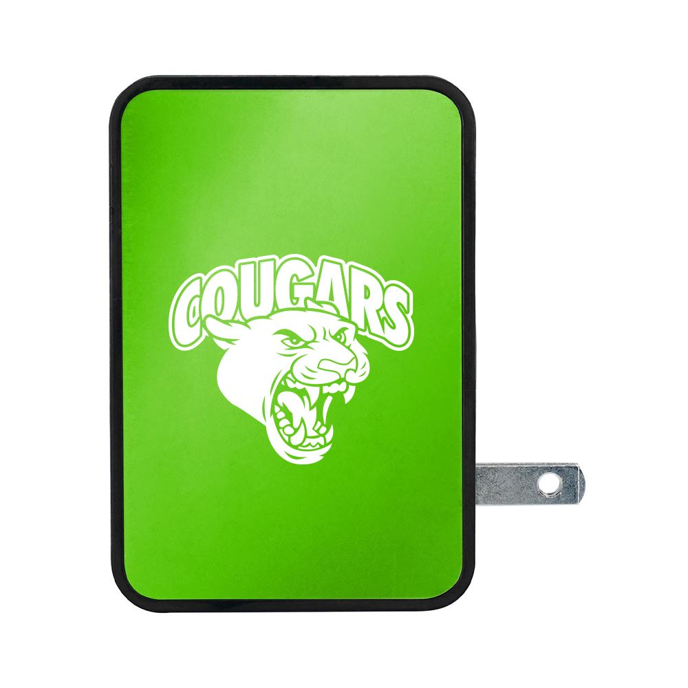UL 4 Port Vivid USB Folding Wall Charger-Personalization Available