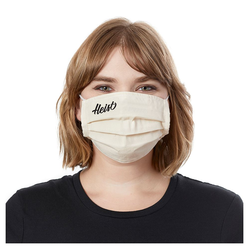 Organic Cotton Pleated Mask - Personalization Available