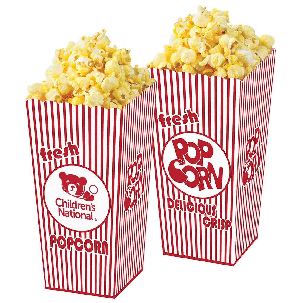 Empty Open Top Popcorn Box - Personalization Available