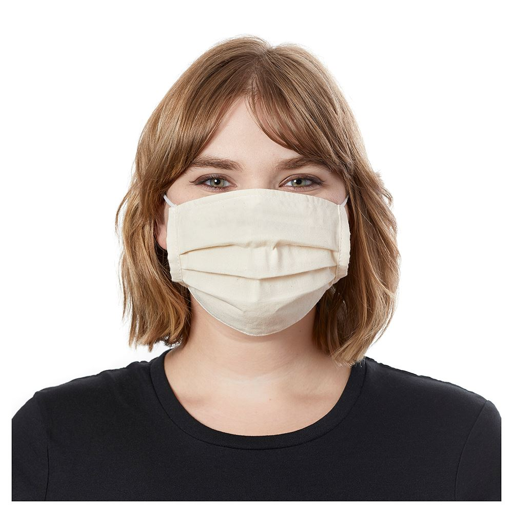 Organic Cotton Pleated Mask