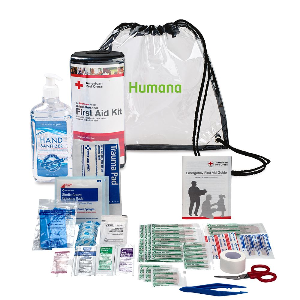 American Red Cross Deluxe Personal First Aid Kit & Hand Sanitizer Bundle-Personalization Available