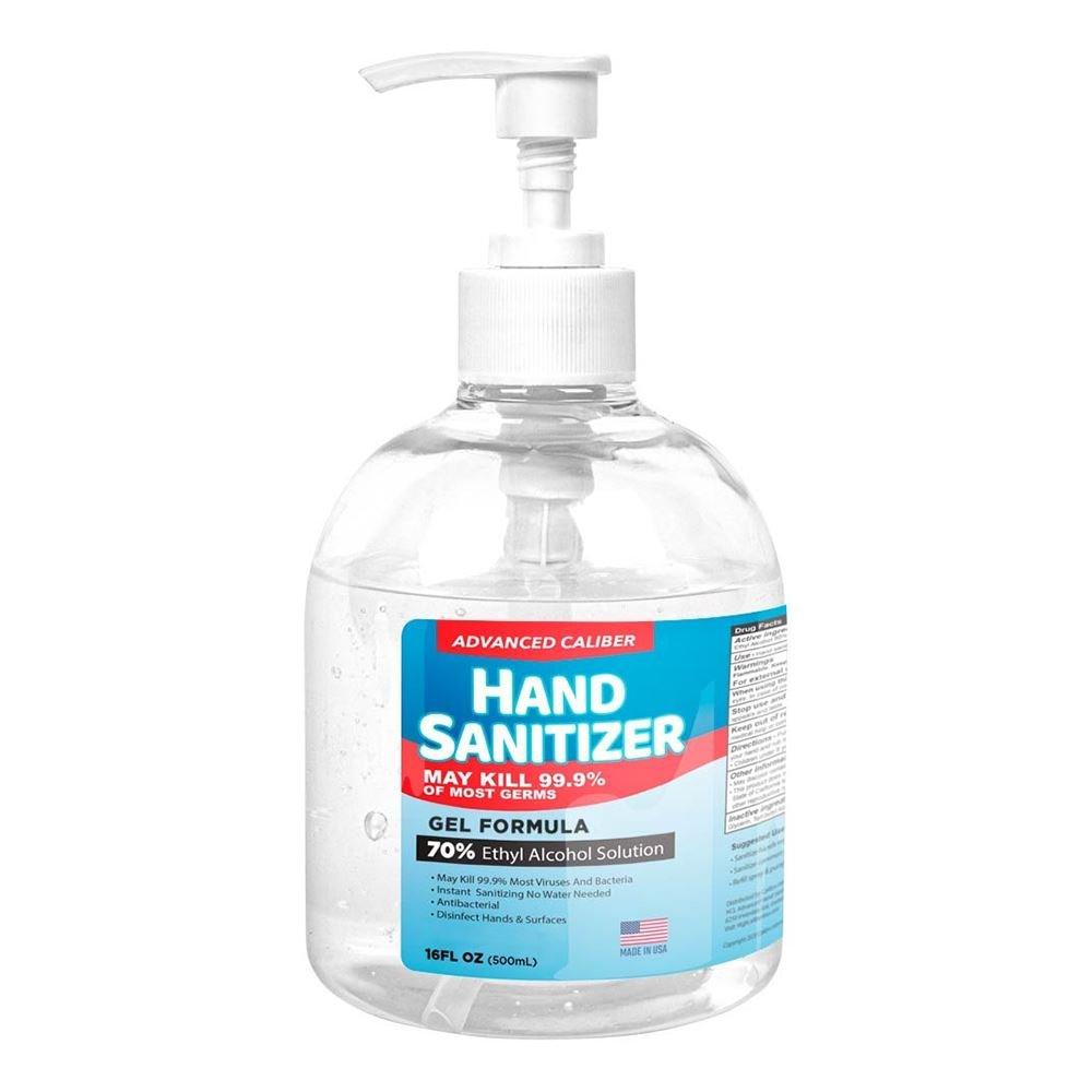 Advanced Caliber GEL Hand Sanitizer 4oz Bottle 70% Alcohol
