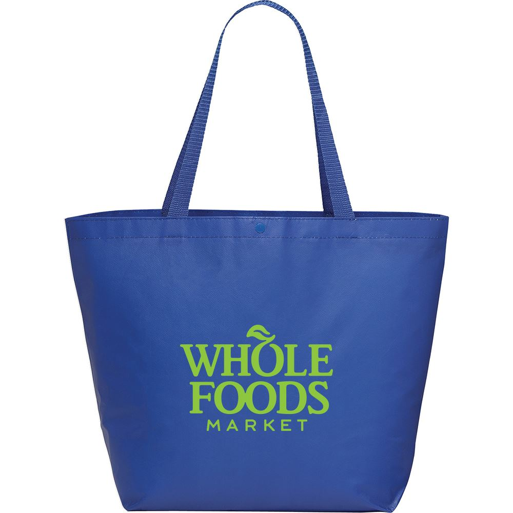 Laminated Shopper Tote with Snap - Personalization Available