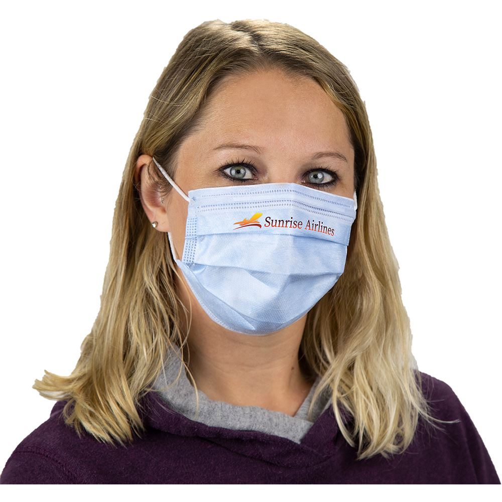 Adult Disposable 3-Ply Face Mask with Full-Color Personalization