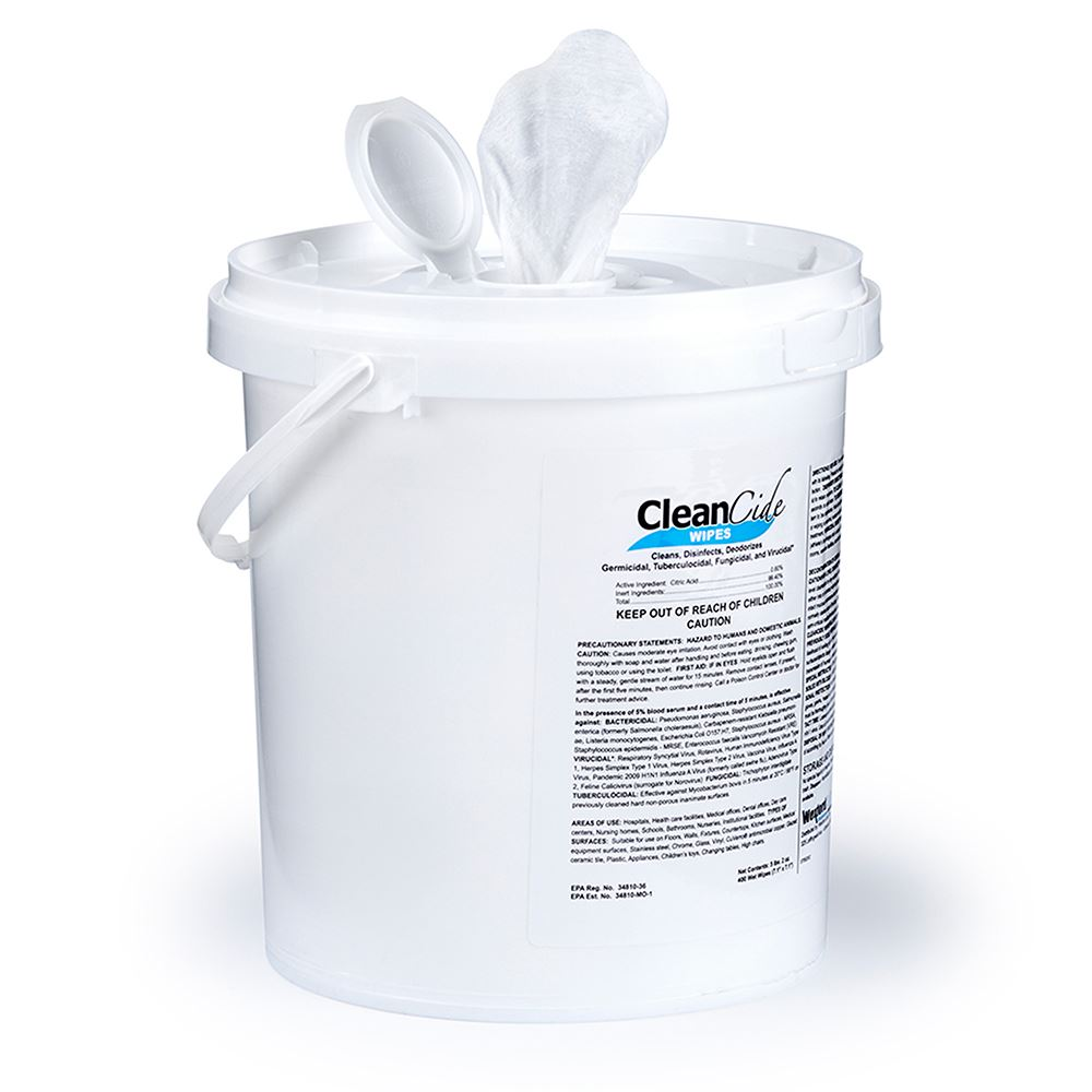 CleanCide® Germicidal Disinfectant Wipes - 400 Count - EPA REGISTERED� - High Bulk Quantities