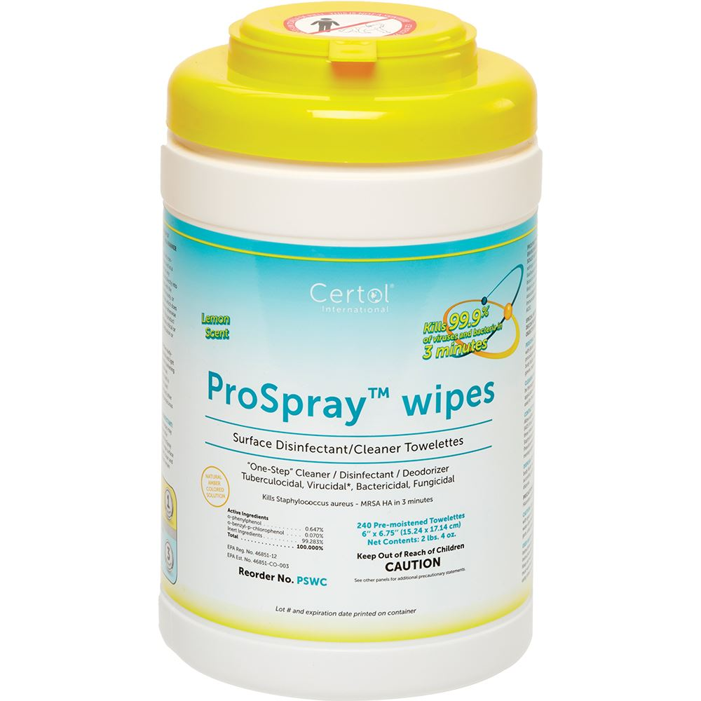 ProSpray® Disinfectant Wipes - Canister of 240 Wipes - EPA REGISTERED