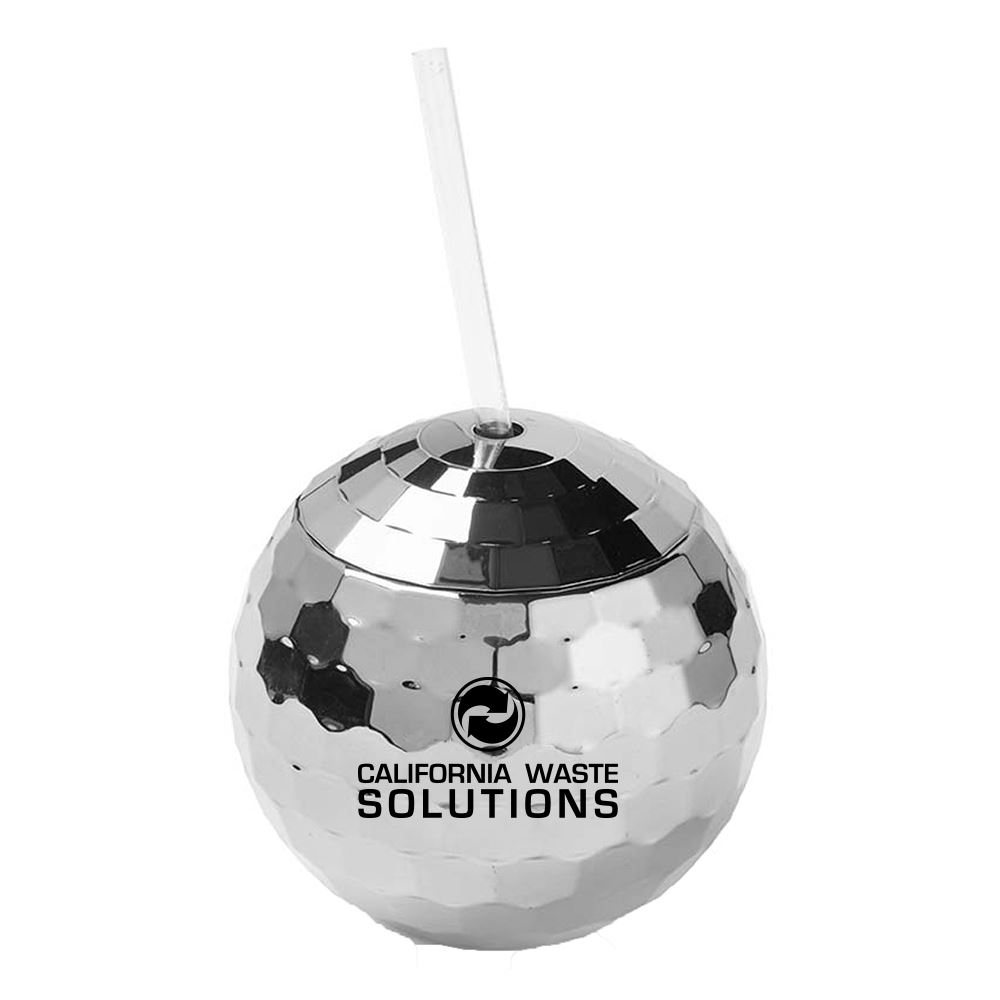 Disco Ball Tumbler with Straw - Personalization Available
