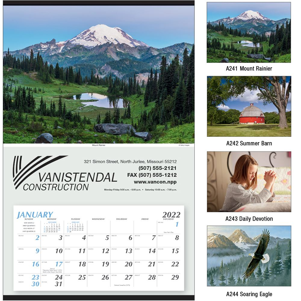 Large Hanger 2021 Calendar - Personalization Available