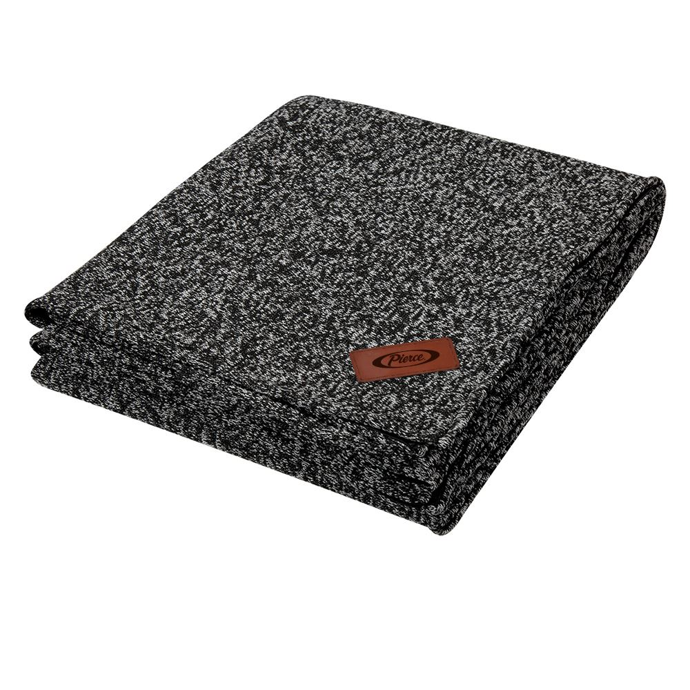 Heathered Fleece Blanket - Embroidered Personalization Available