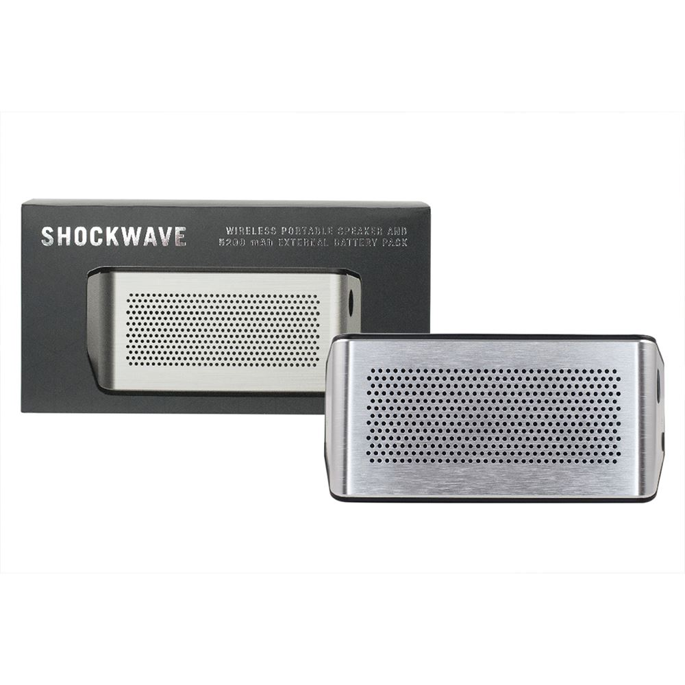 Shockwave Speaker and 5200 mAh Charger - Full Color Personalization Available