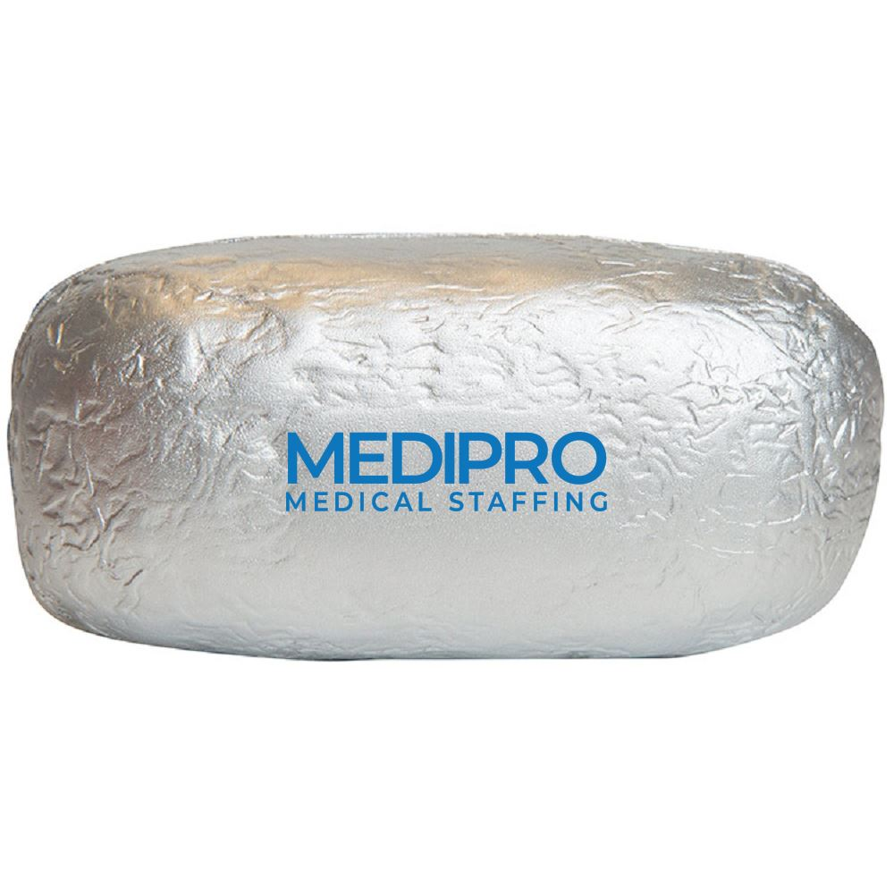 Baked Potato / Burrito in Foil Stress Reliever-Personalization Available