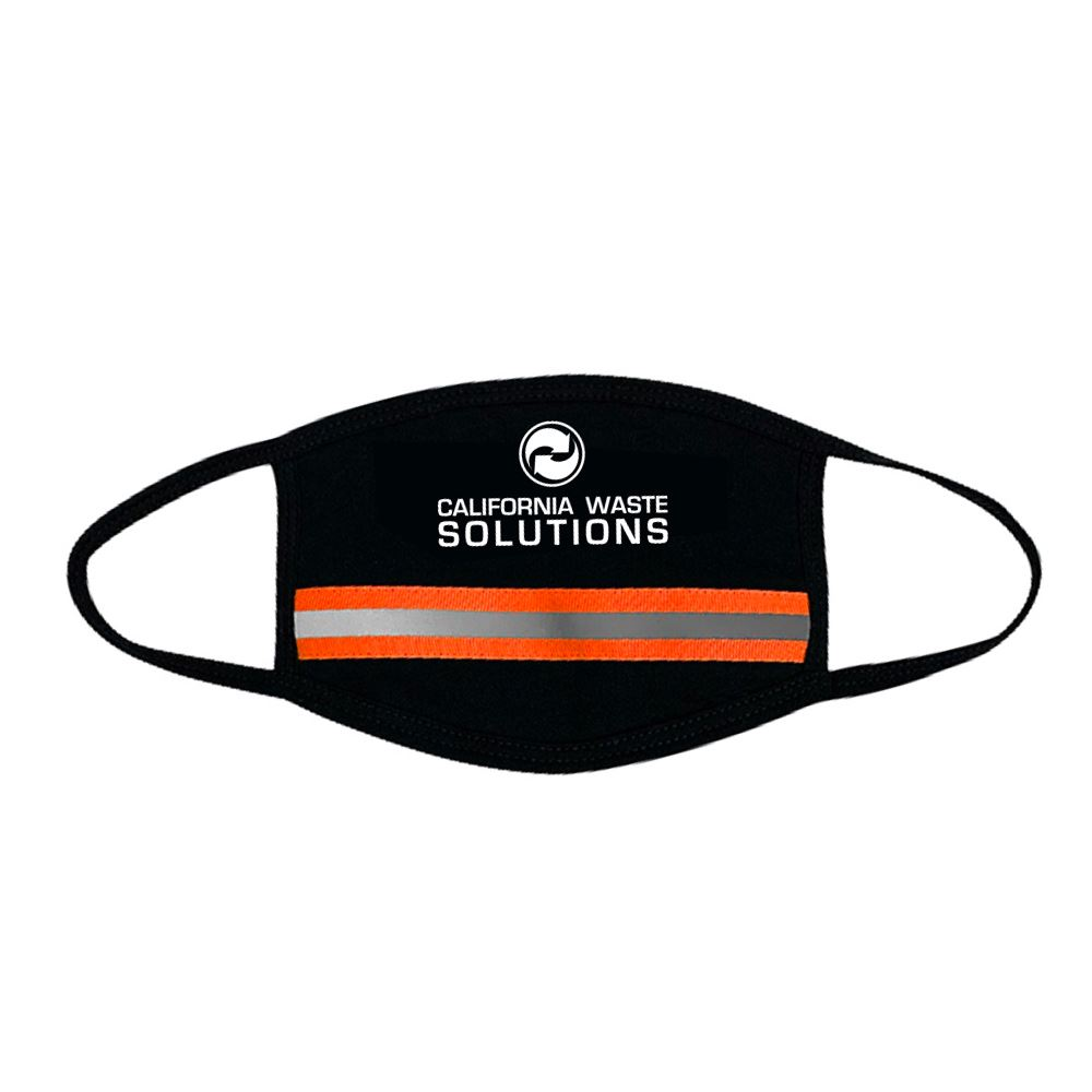 Single Reflective Tape Mask with Nose Wire - Personalization Available