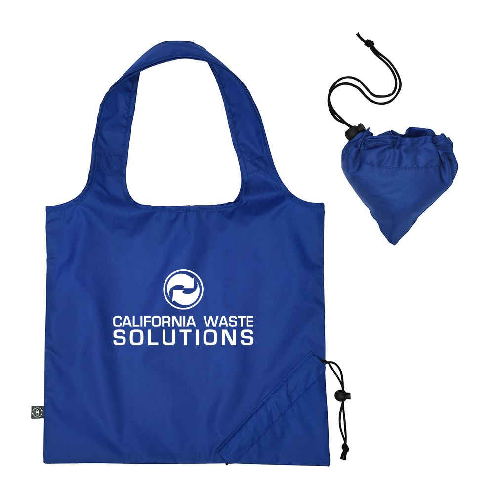 Foldaway Tote Bag With 100% RPET Material -Personalization Available