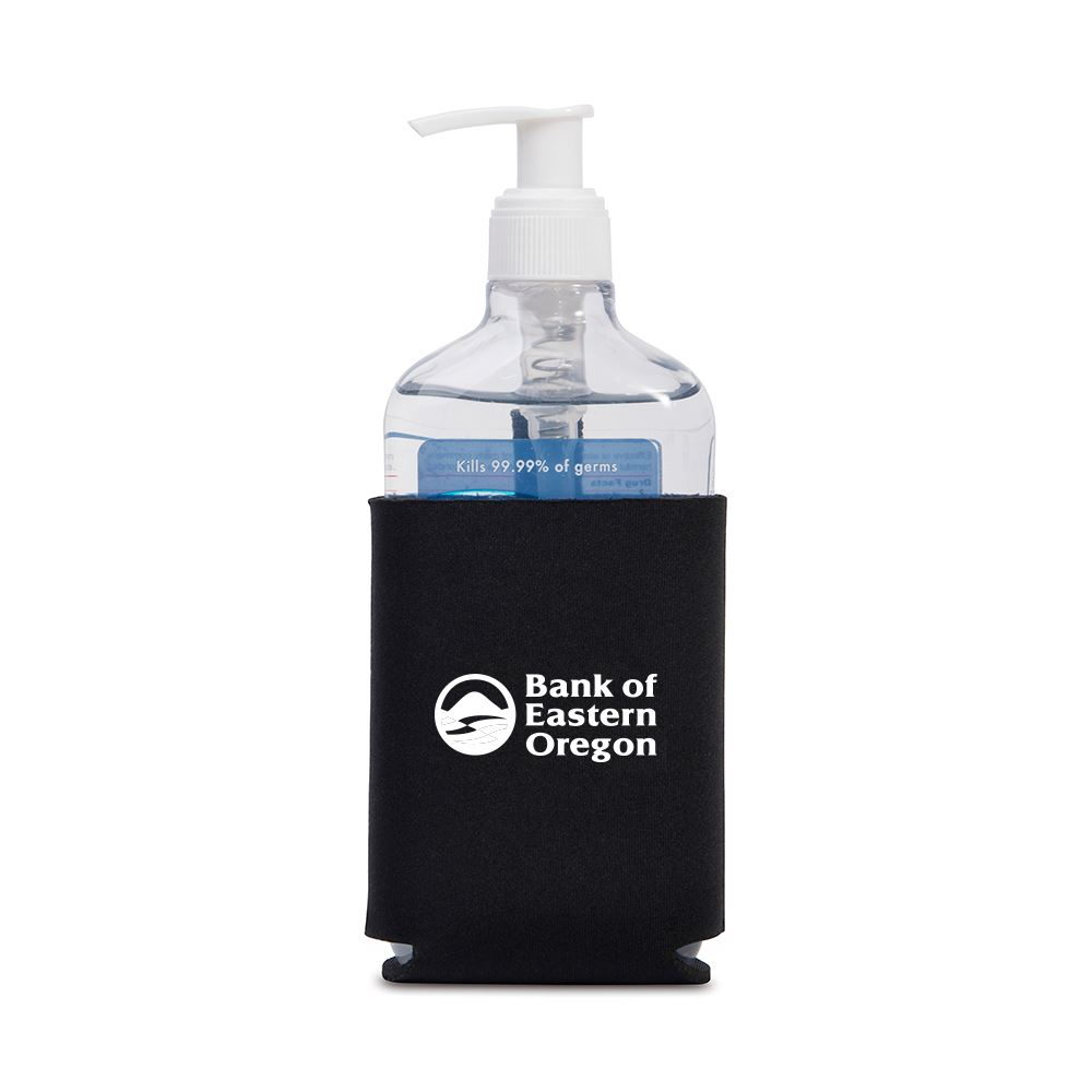 Hand Sanitizer With Neoprene Can Cooler Sleeve - Personalization Available