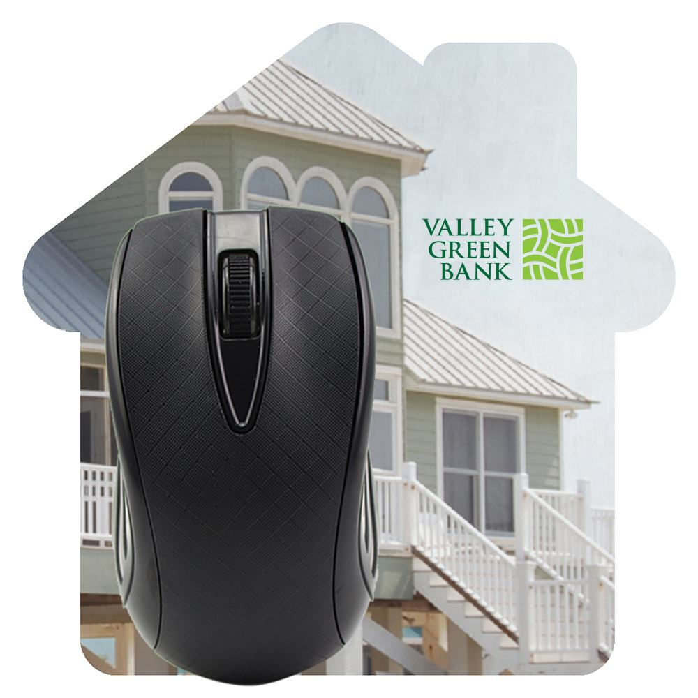 House Shaped Dye Sublimated Computer Mouse Pad-Personalization Available