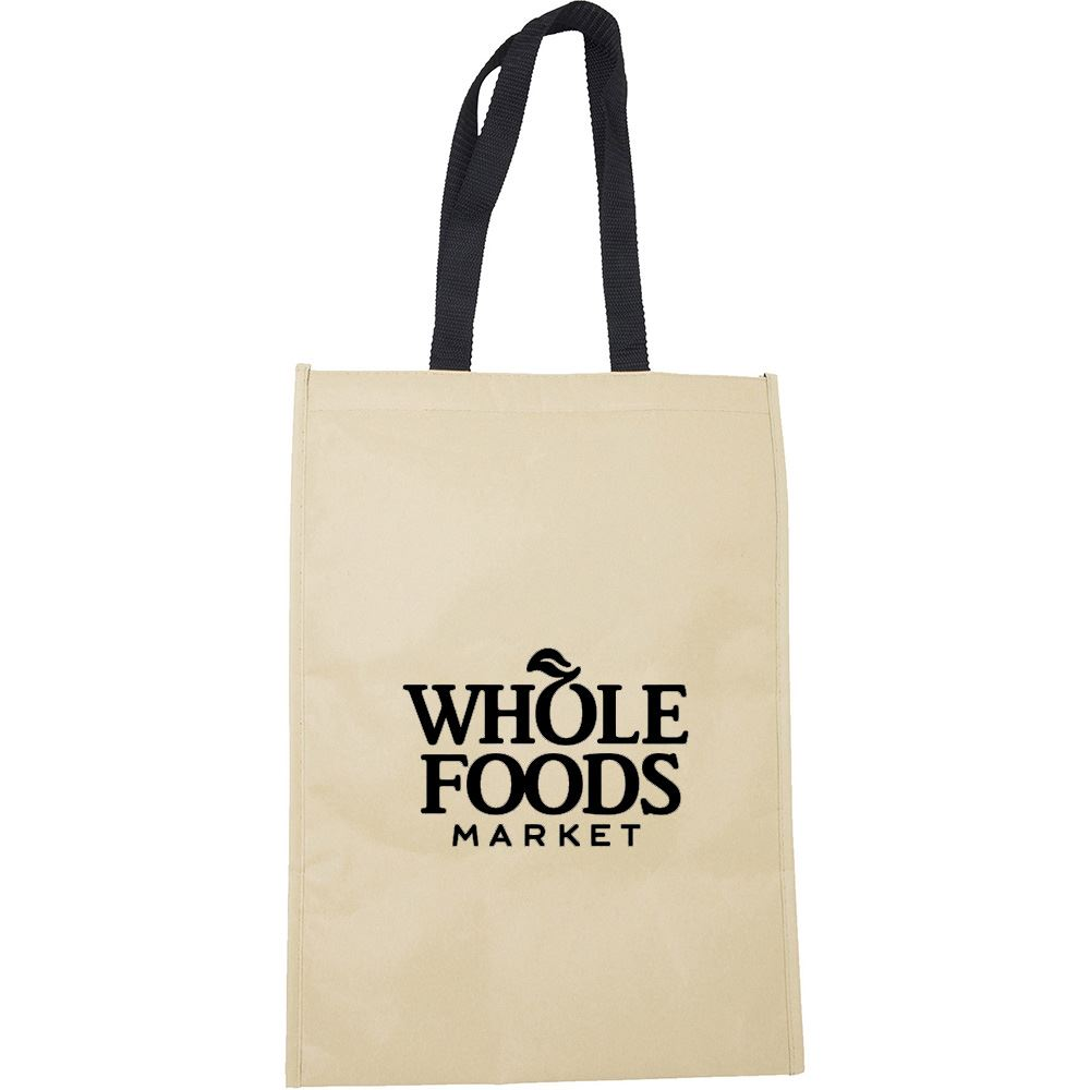 Kraft Insulated Hook And Loop Grocery Tote - Personalization Available