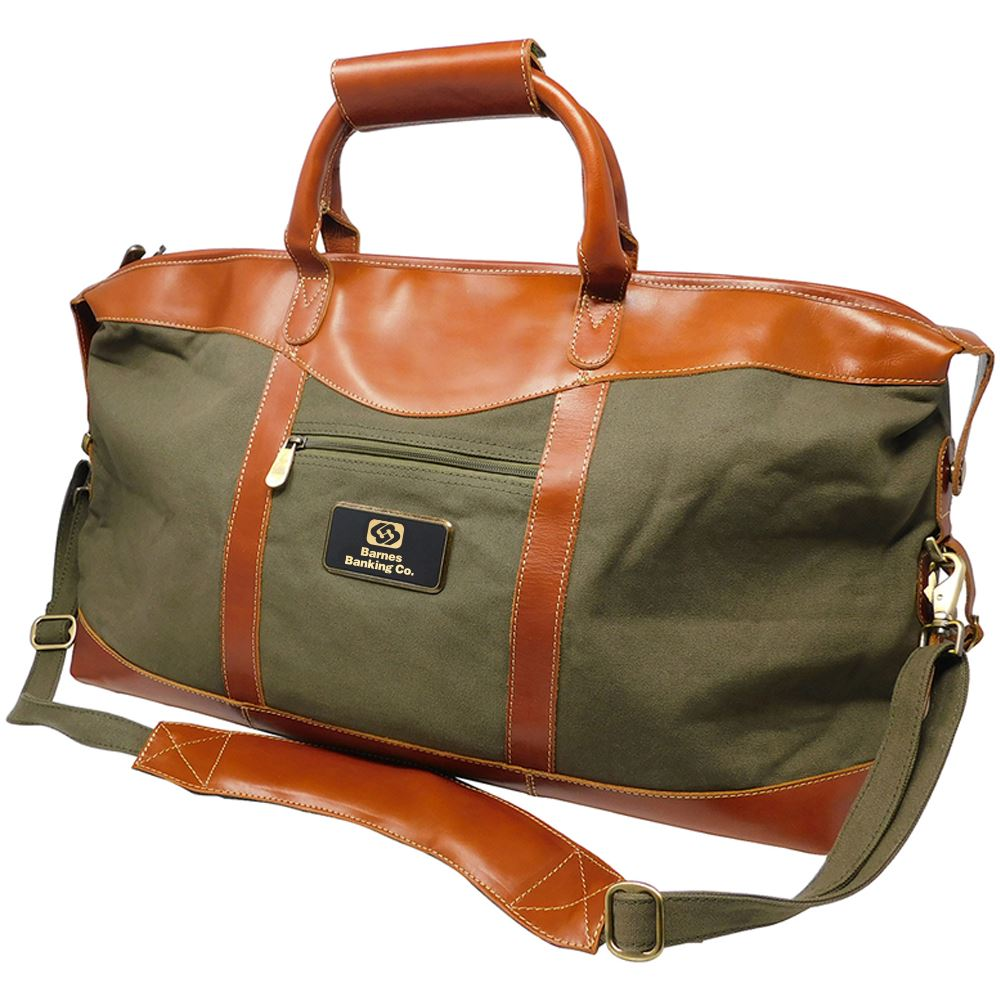 Pine Canyon Leather Duffel - Personalization Available