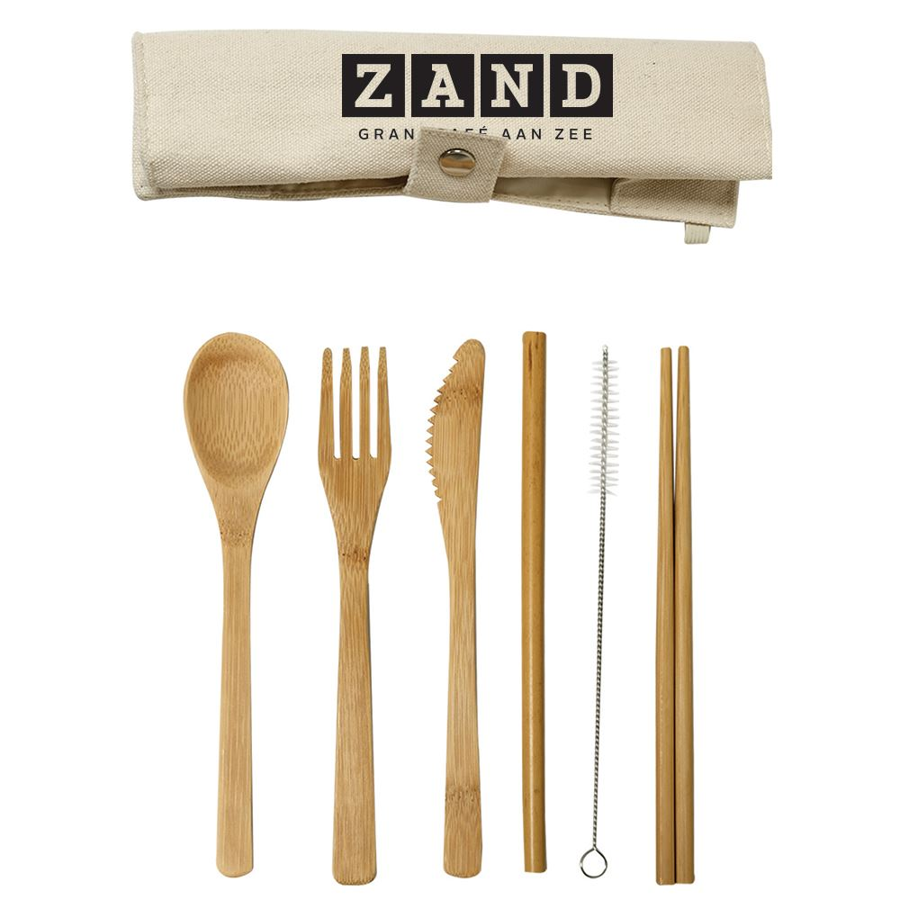 Deluxe Bamboo Utensils With Carry Pouch