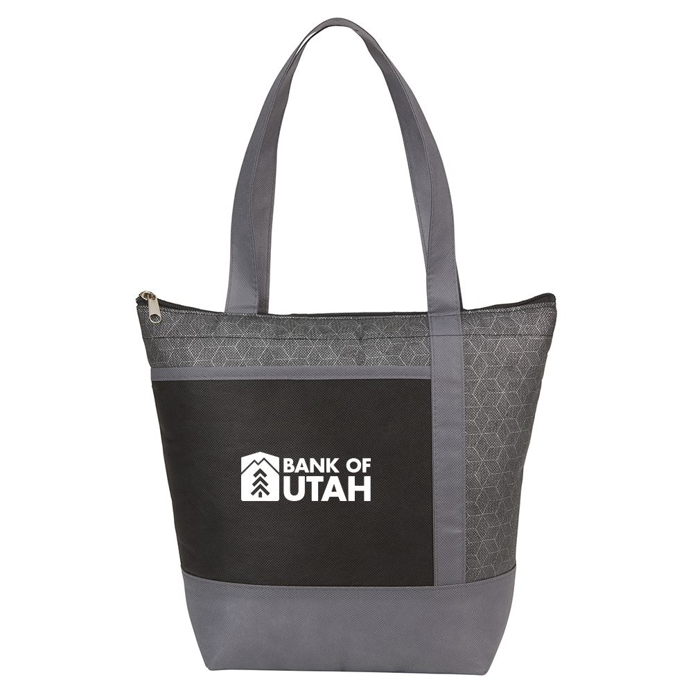 Chrome Non-Woven 9 Can Lunch Cooler - Personalization Available