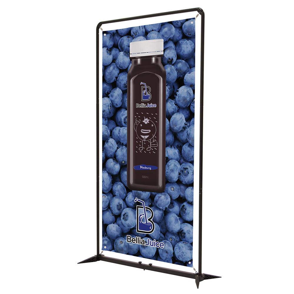 4.5' FrameWorx Banner Display Kit - Single-Sided - Full Color Personalization Available