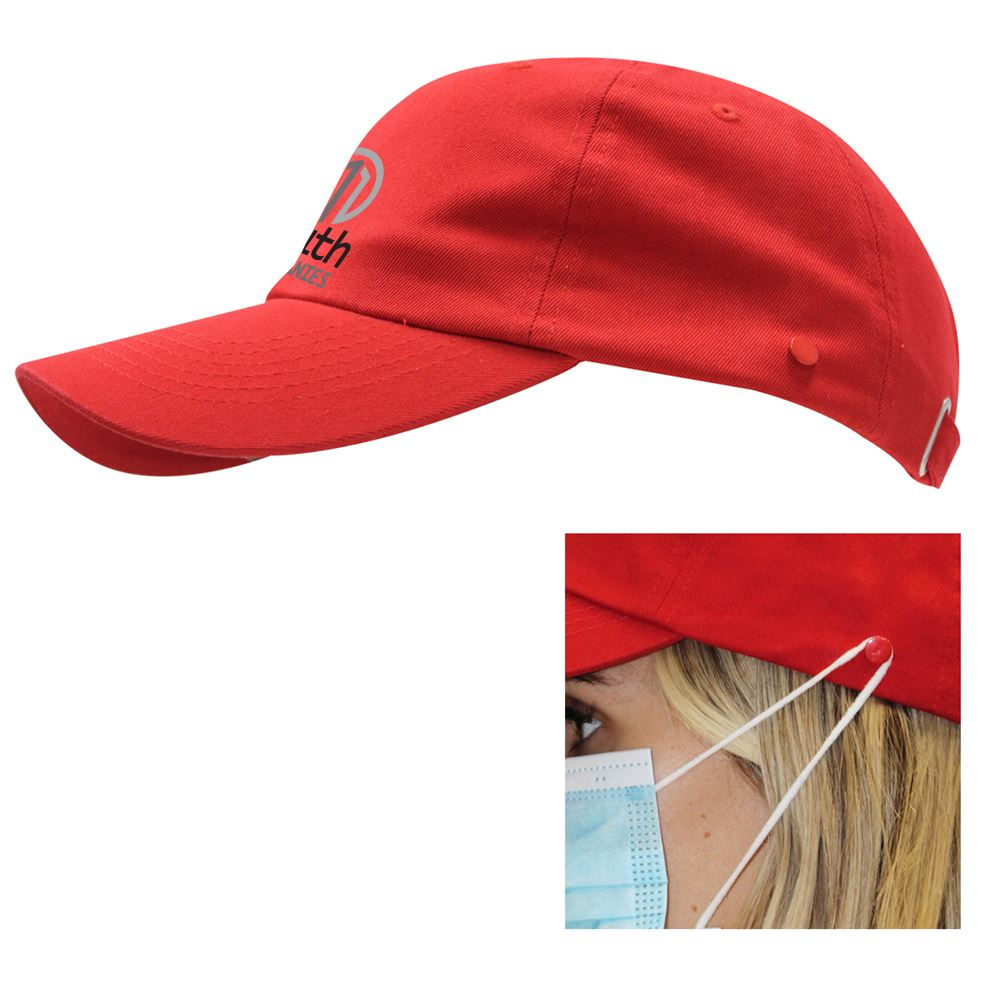 Washed Cotton Mask Cap - Personalization Available