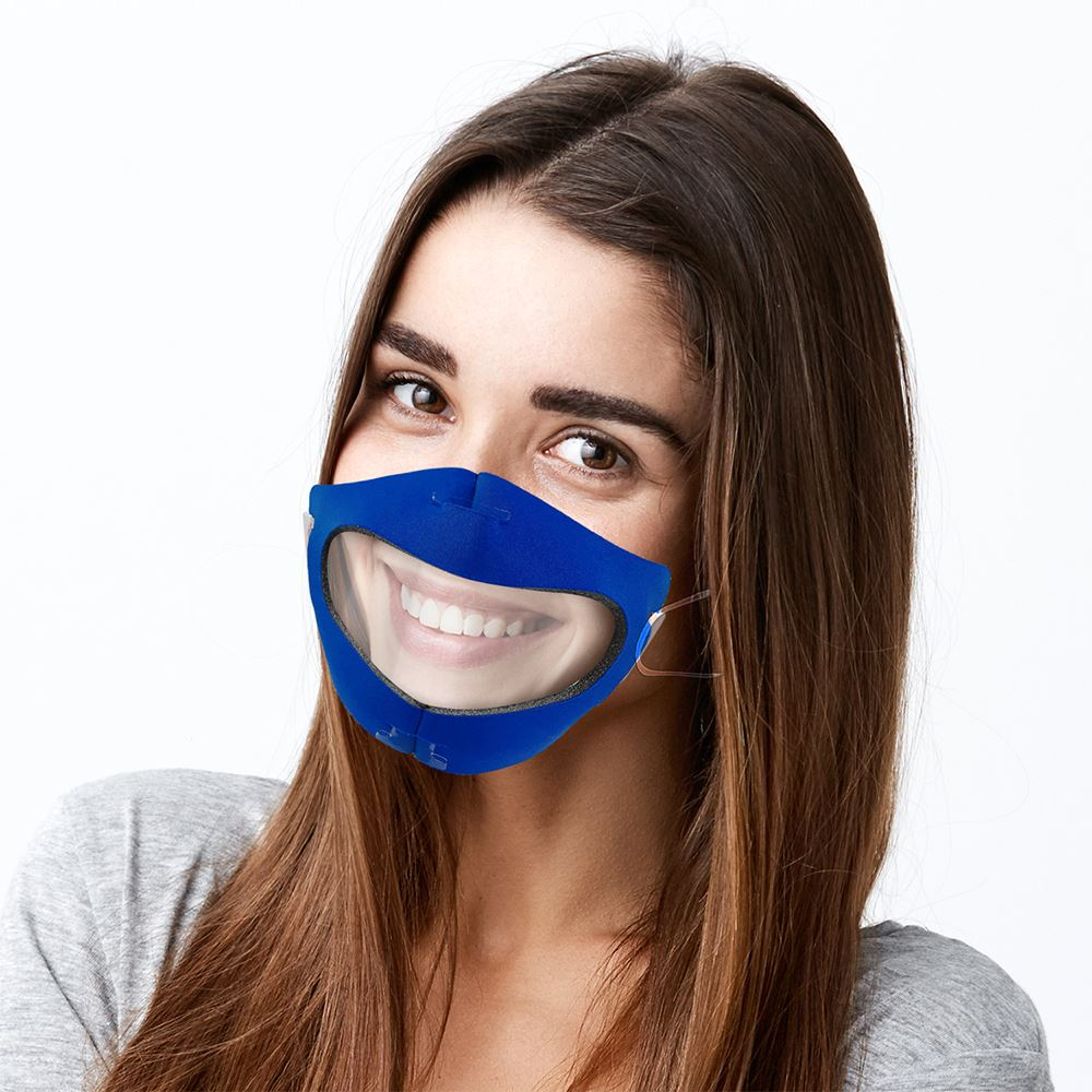 Fitted Face Mask With Clear Window