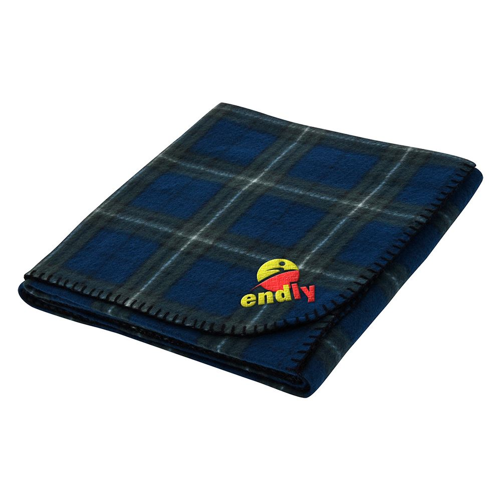 Fraser Plaid Fleece Blanket - Embroidered Personalization Available