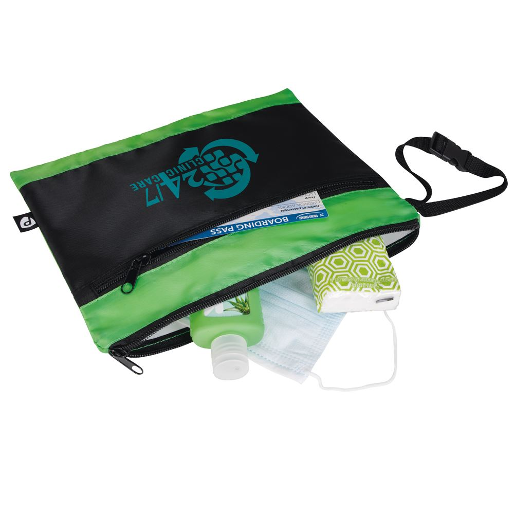 Travel Pouch with Antimicrobial Additive - Personalization Available